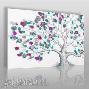 obraz na płótnie - drzewo wiosna 120x80 cm 52801, drzewo, wiosna, pączki, natura