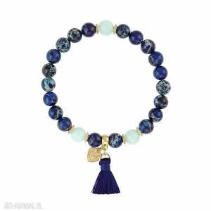 bransoletka z jaspisów cesarskich - boho - chwost