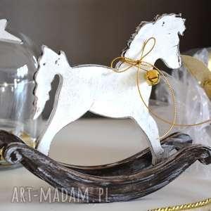 dekoracje konik na biegunach, konik, koń, drewniany, dzwonek, święta