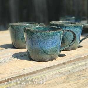 Ręcznie lepiony kubek ceramiczny - duża filiżanka ok 350 ml