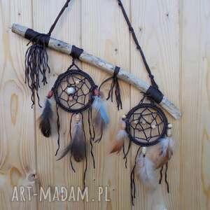 łapacz snów eco iii, snów, z drewna, piórkami