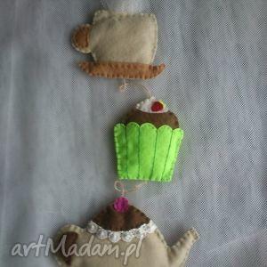 mamami dekoracyjna zawieszka filcowa, filc, dekoracja, zawieszka, dzbanek, filiżanka