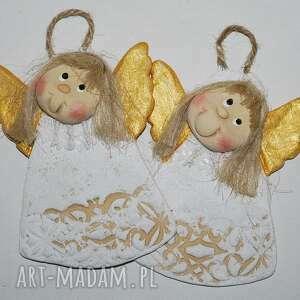 dekoracje z nadzieją -anioły masy solnej, aniołki, dekoracja ozdoba, dla gości