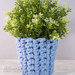 dekoracje doniczka niebieska, xs, doniczka, osłonka, dekoracja, dekoracje, niebieska