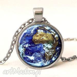 ziemia - medalion z łańcuszkiem - naszyjnik, planeta, kosmos