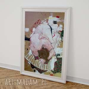 Obraz POSTAĆ W PODUSZKACH, obraz, akt, nowoczesny, wnętrze, akryle, kolor