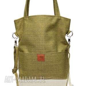 ręcznie zrobione torebki prostokątna torba na ramię a4 w kolorze zgniłej zieleni