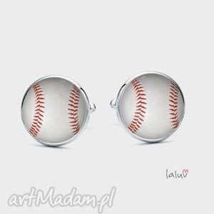 spinki do mankietów baseball - sport, kij, hobby, piłka, boisko, homerun