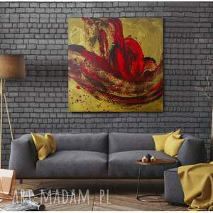 """Prezent """"Krwawa Merry"""" - Obraz na płótnie ręcznie malowany do salonu, design"""