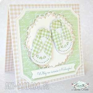 Kartka Witaj na świecie Maluszku, narodziny, życzenia, dziecko, chłopiec, kartka