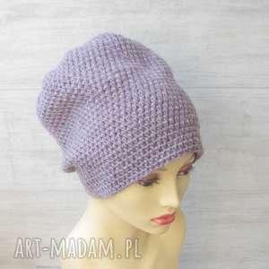 czapki czapka szydełkowa oversize, kolorowa czapka, zimowa duża