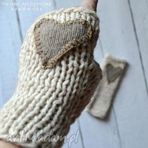 mitenki - rękawiczkki, rękodzieło, mitenki, prezent