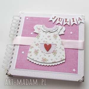 album dla dziewczynki - sukienka - dziewczynka, narodziny, prezent