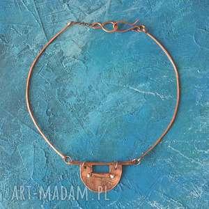 Naszyjnik z kutej, oksydowanej miedzi 6 naszyjniki aleksandrab