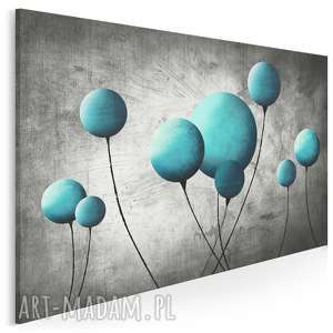 obraz na płótnie - balon balonik turkusowy 120x80 cm 69202, balon