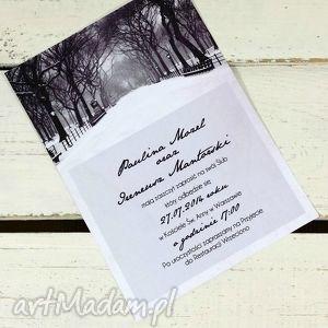 Zaproszenie ślubne Zimowe Central Park 115x165mm, centralpark, nowyjork, zaproszenie