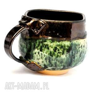 ceramiczny kubek - męski c, kubek, naczynie, ceramika, użytkowe, unikatowe