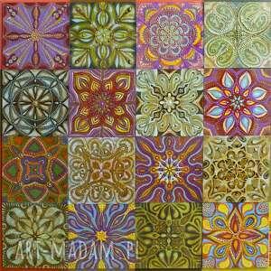 mozaika asturia 4x4, malarstwo, mozaika, kafelki, asturia, obraz, kompozycja