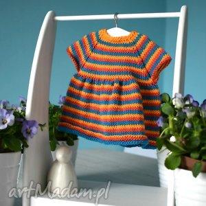 Sukienka dla lalki lub misia ok. 40 cm. - ,sukienka,lalka,waldorfska,miś,ubranko,sweterek,