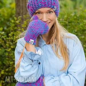 follow me euforia, damska, czapka, na drutach, jakość, gruba, wełniana