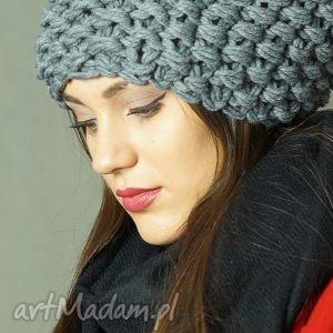 czapka #13, czapa, czapka, gruba, druty, dziergana, masywna, święta prezent