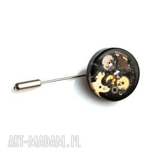 Prezent PIN - MECHANICAL BLACK, pin, trybiki, żywica, unikat, prezent