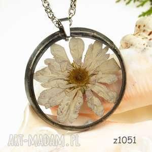 herbarium jewelry z1051 naszyjnik z suszonymi kwiatami, jewelry, kwiaty w