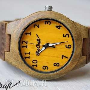 drewniany zegarek sandal wood yellow women, zegarek, drewniany, elegancki, damski