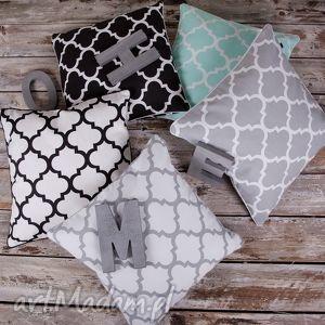 Poszewka na poduszkę koniczyna marokańska - kolory, poduszka, koniczyna,