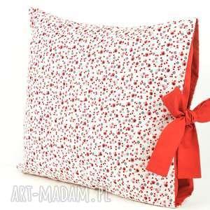 poduszki poszewka na poduszkę z czerwoną kokardą, poduszka, dekoracja, oryginalna