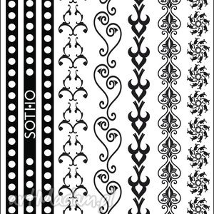 zestaw czarnych tatuaży bransoletek no 1, tatoo, tatuaż, zestaw, bransoletki