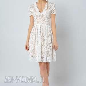 handmade sukienki gwiazdnica - koronkowa sukienka ślubna