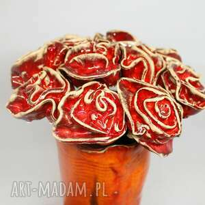 prezent dzień kobiet kwiaty ceramiczne róże na sztuki
