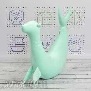 hand-made dla dziecka foka rebeka velvet mint poduszka do karmienia