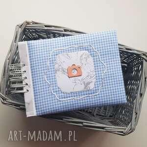 album na zdjęcia blue 2 w bawełnianej okładce, album, prezent, scrapbooking