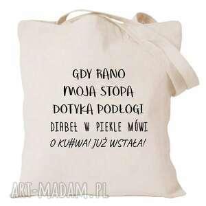 hand made pomysł na prezent torba z nadrukiem korpo, korporacja, biuro, mordor, śmieszne