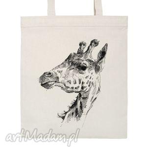 na zakupy eko torba żyrafa, torba, eko, zakupy, bawełniana, nadruk