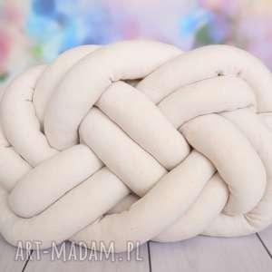 poduszki ręcznie pleciona dekoracyjna poduszka supeŁ precel knotpillow 40x30