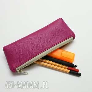 pomysły na święta prezenty Piórnik - fuksja, elegancki, nowoczesny, pakowny, prezent
