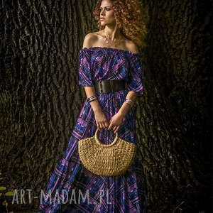 ręcznie robione sukienki vanessa - violet mix