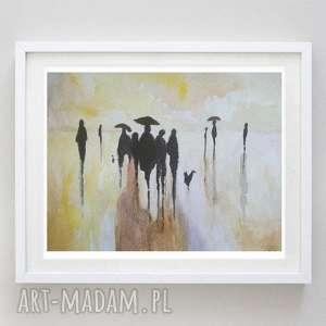 abstrakcja- akwarela formatu 12,5/18 cm, abstrakcja, akwarela, postacie