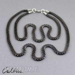 Podwójny wężowy - naszyjnik naszyjniki caltha naszyjnik