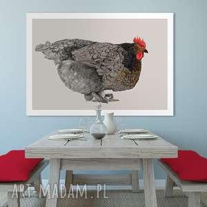 obraz na płotnie - 100x70cm kura wysyłka w 24h 0265, kura, grafika, obraz, kuchnia