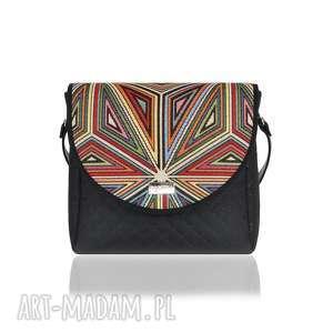 ręcznie wykonane na ramię torebka puro classic 2678 geometric triangles