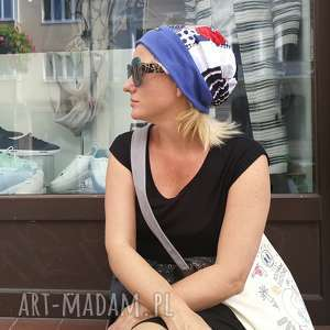 czapka turbanowa etno boho patchwork, czapka, etno, sport, kolorowa, bawełna