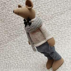Elegant w sweterku, myszka, urodziny, roczek, chrzest, maskotka