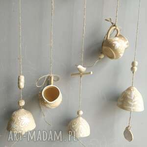 świąteczny prezent, dzwoneczki ceramiczne, zawieszka ceramiczna