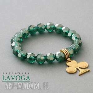 hand made bransoletki crystal with pendant in emerald ii