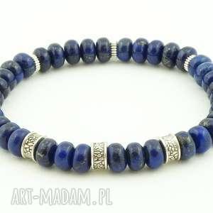 Prezent Lapis lazuli- męska bransoleta, lapis, lazuli, męska, prezent