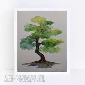 Drzewo-akwarela formatu a5 paulina lebida drzewo, akwarela,